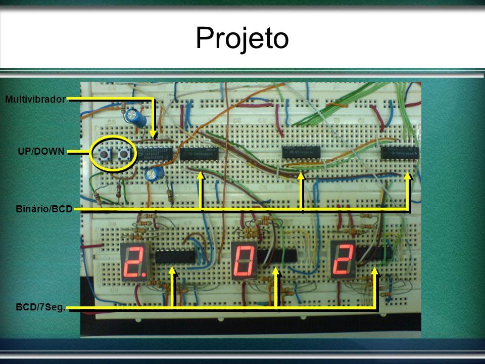 Projeto Multivibrador UP/DOWN Binário/BCD BCD/7Seg.
