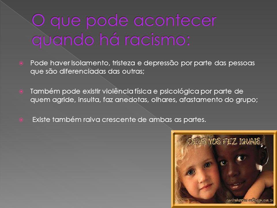 O que pode acontecer quando há racismo: