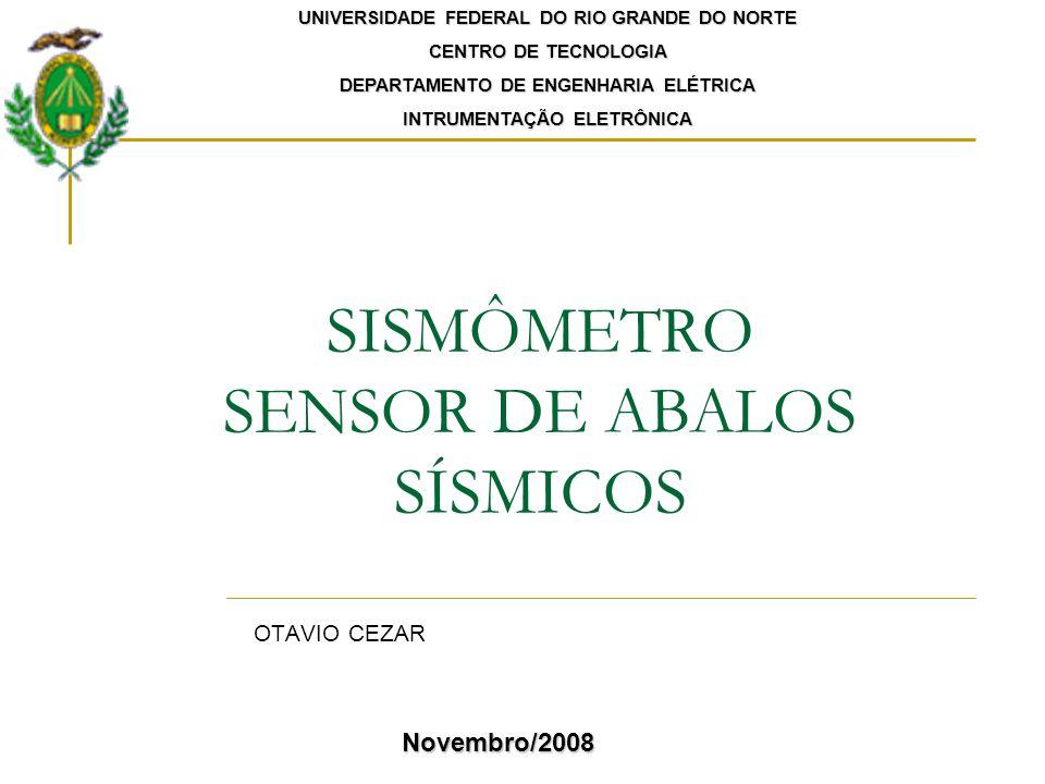 SISMÔMETRO SENSOR DE ABALOS SÍSMICOS