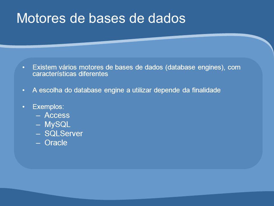 Motores de bases de dados