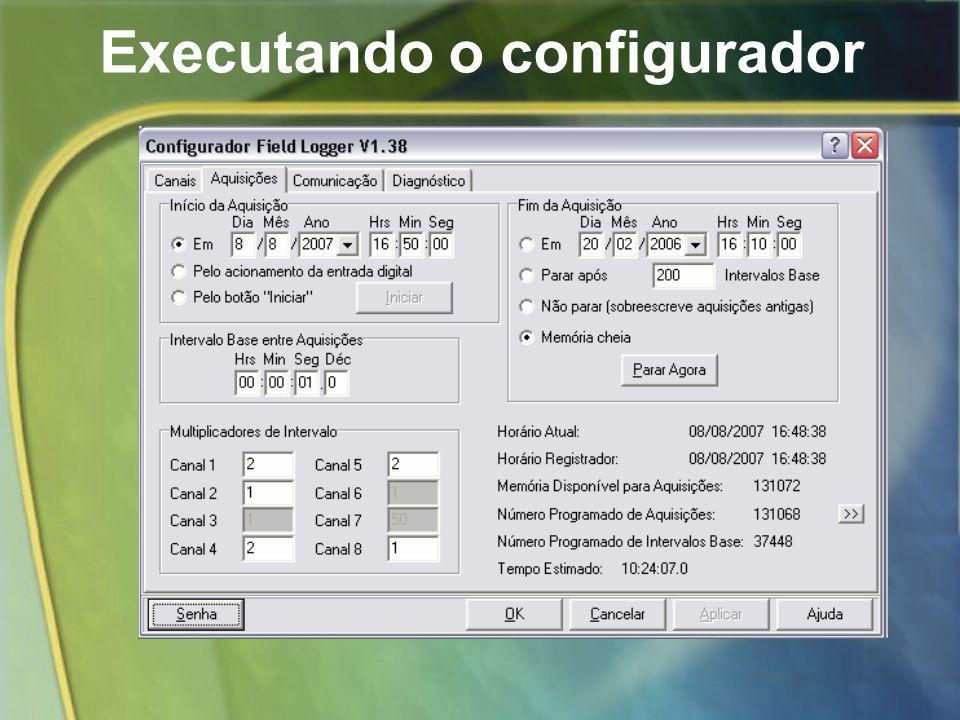 Executando o configurador