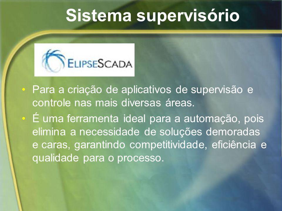 Sistema supervisório Para a criação de aplicativos de supervisão e controle nas mais diversas áreas.