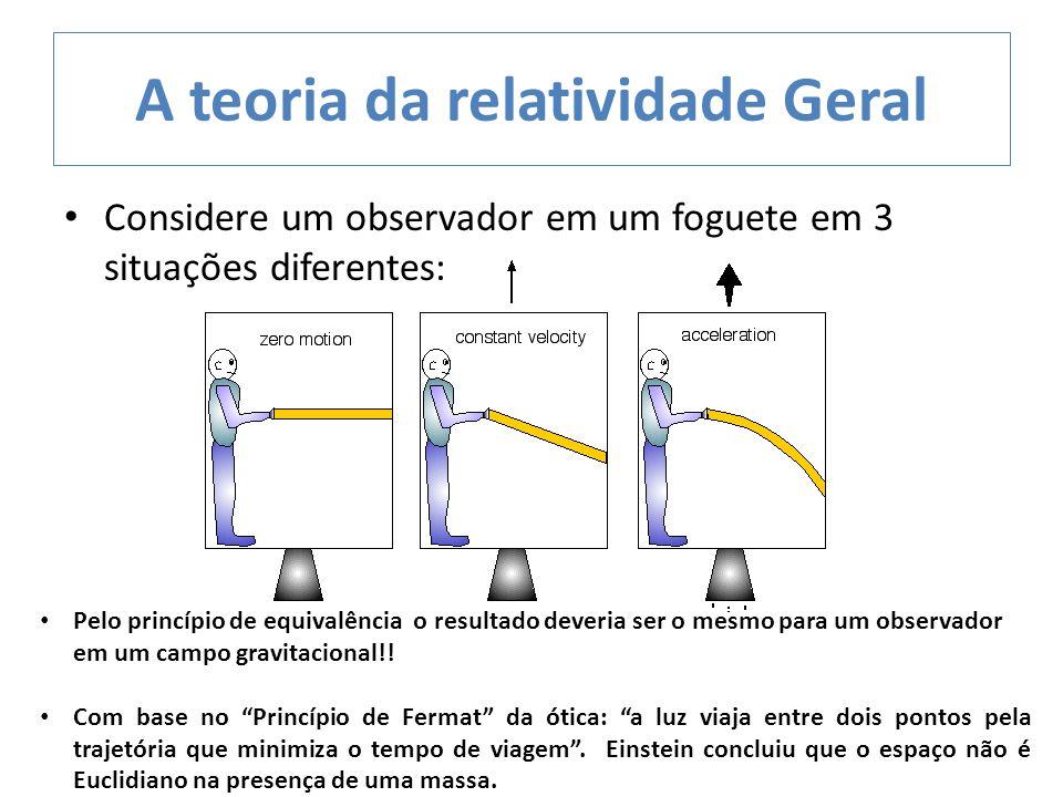A teoria da relatividade Geral