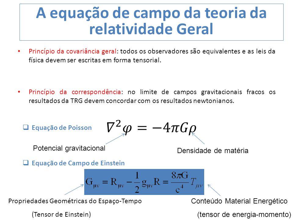 A equação de campo da teoria da relatividade Geral