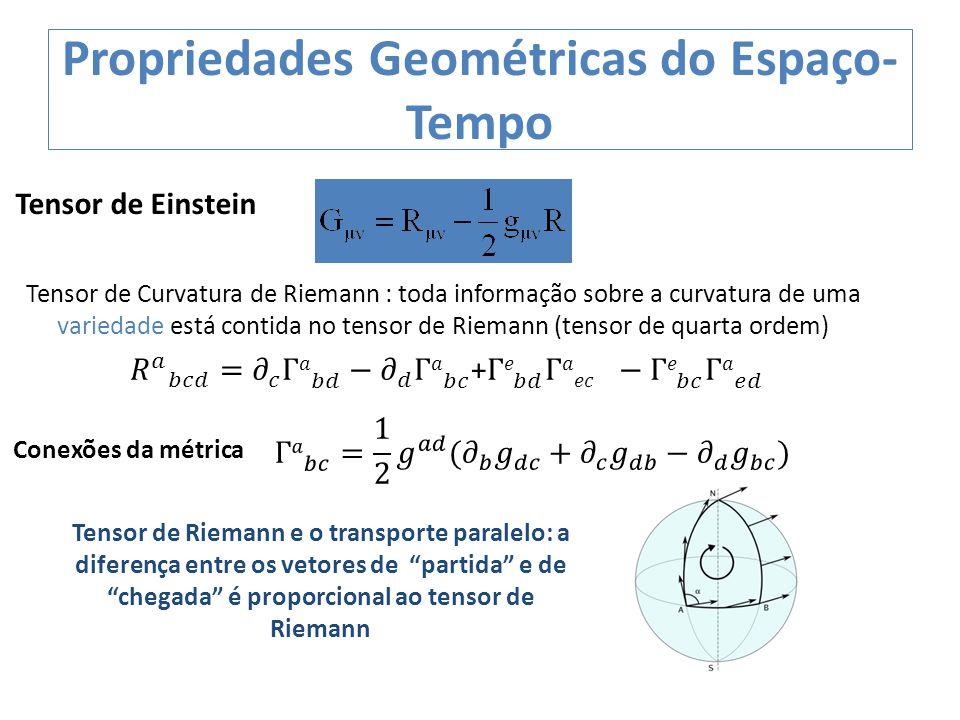 Propriedades Geométricas do Espaço-Tempo