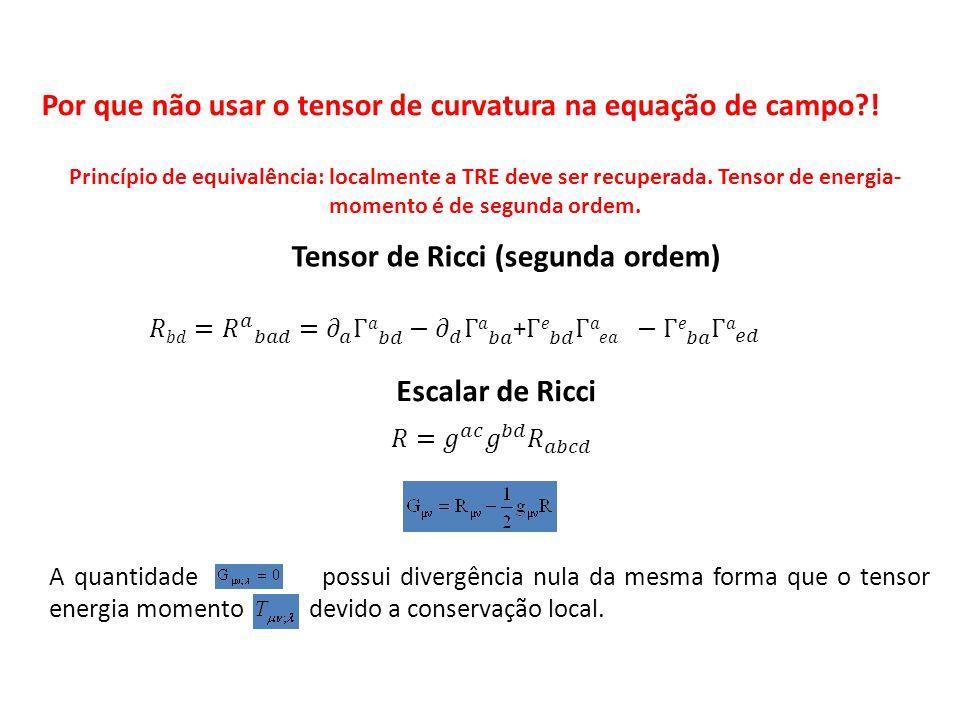 Tensor de Ricci (segunda ordem)