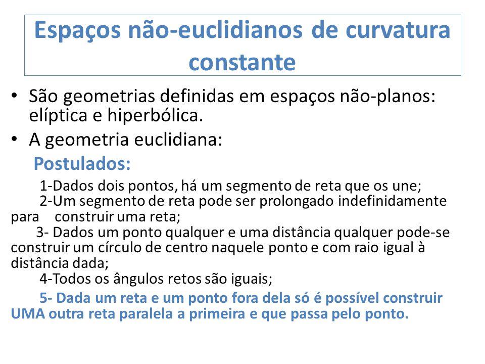 Espaços não-euclidianos de curvatura constante