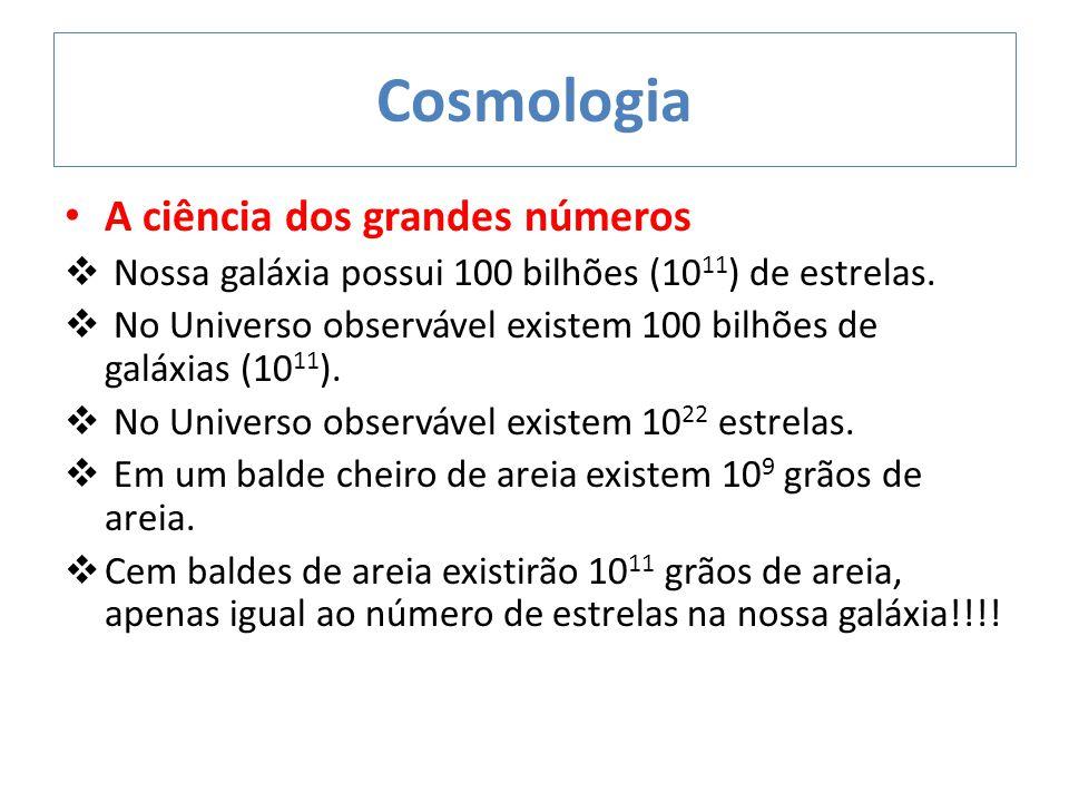 Cosmologia A ciência dos grandes números