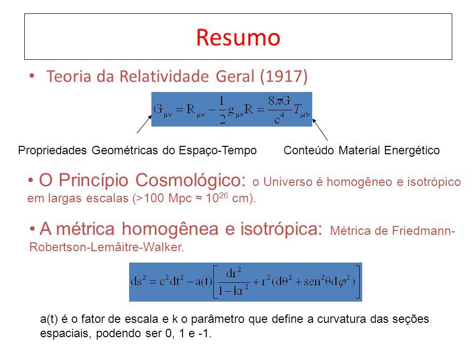 Resumo Teoria da Relatividade Geral (1917)