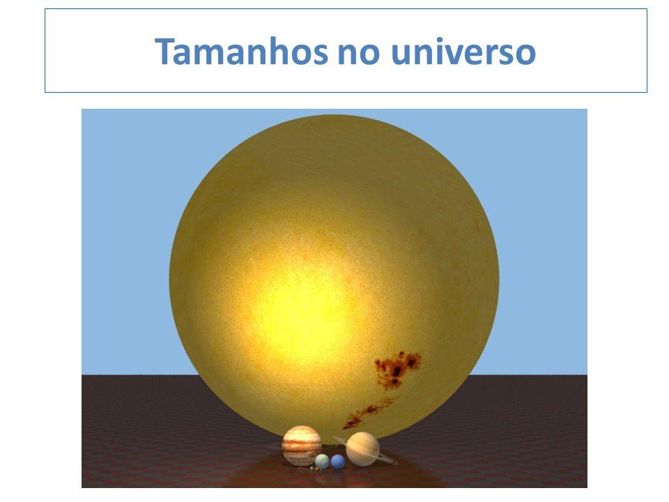 Tamanhos no universo