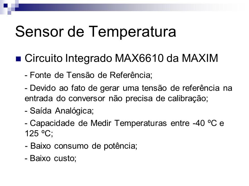 Sensor de Temperatura Circuito Integrado MAX6610 da MAXIM