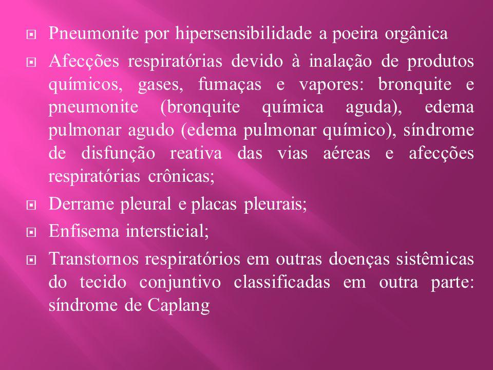 Pneumonite por hipersensibilidade a poeira orgânica