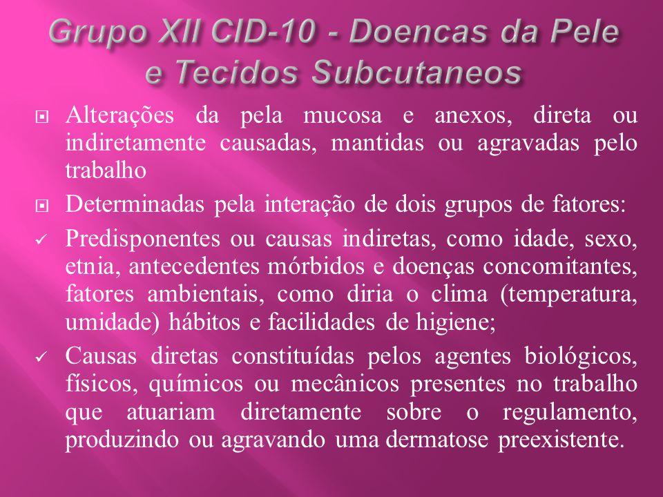 Grupo XII CID-10 - Doencas da Pele e Tecidos Subcutaneos
