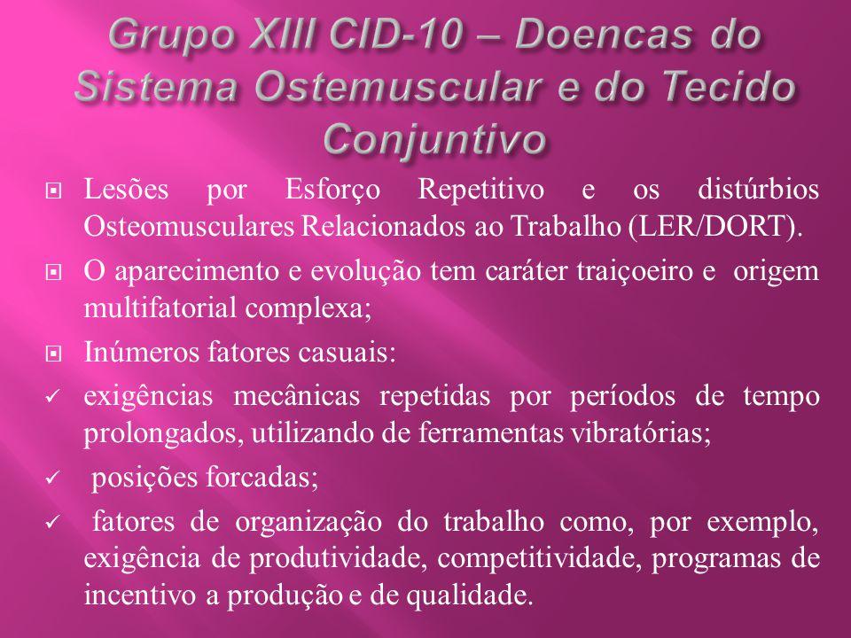 Grupo XIII CID-10 – Doencas do Sistema Ostemuscular e do Tecido Conjuntivo