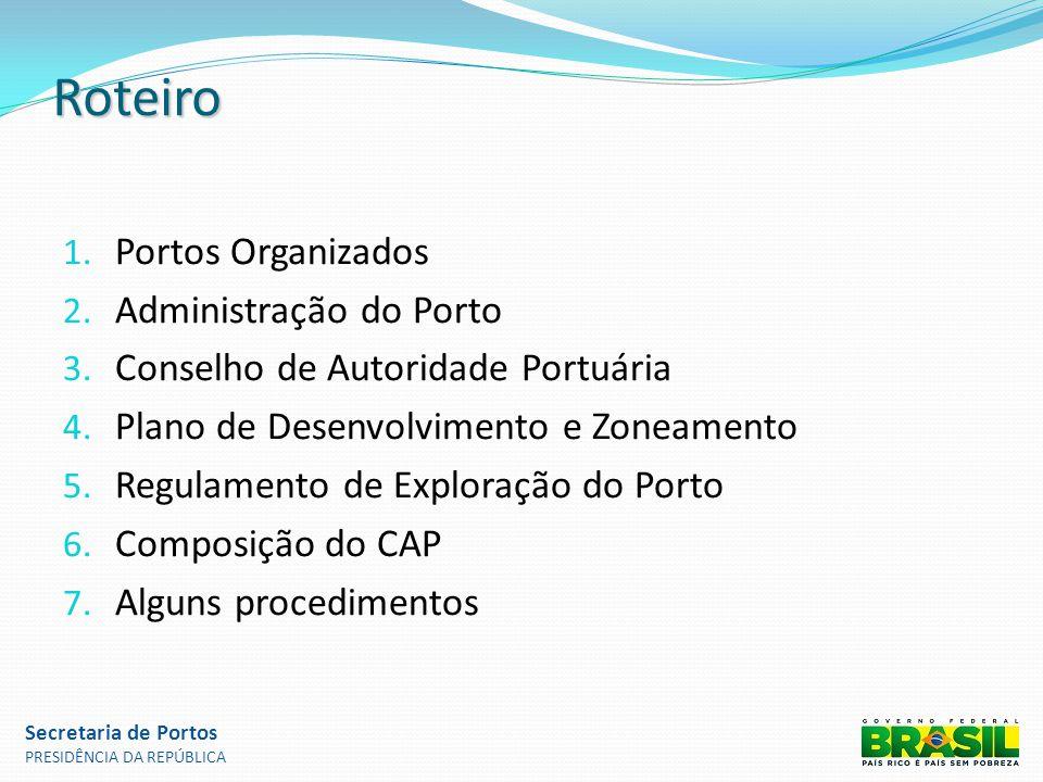 Roteiro Portos Organizados Administração do Porto
