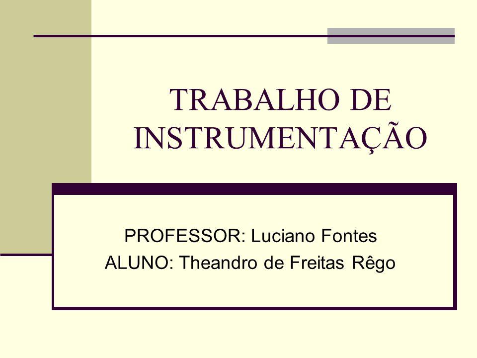 TRABALHO DE INSTRUMENTAÇÃO