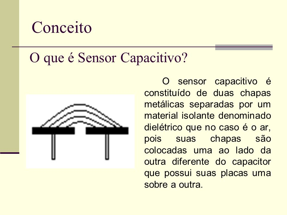 Conceito O que é Sensor Capacitivo