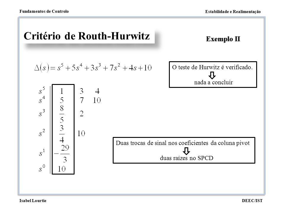 Critério de Routh-Hurwitz