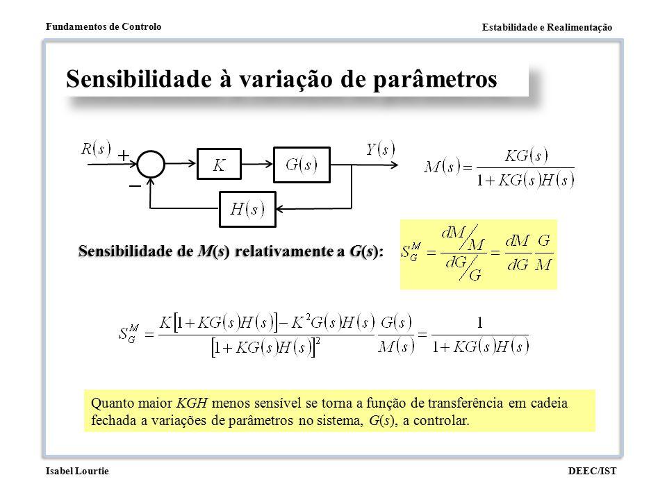 Sensibilidade à variação de parâmetros