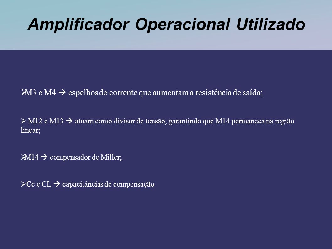 Amplificador Operacional Utilizado