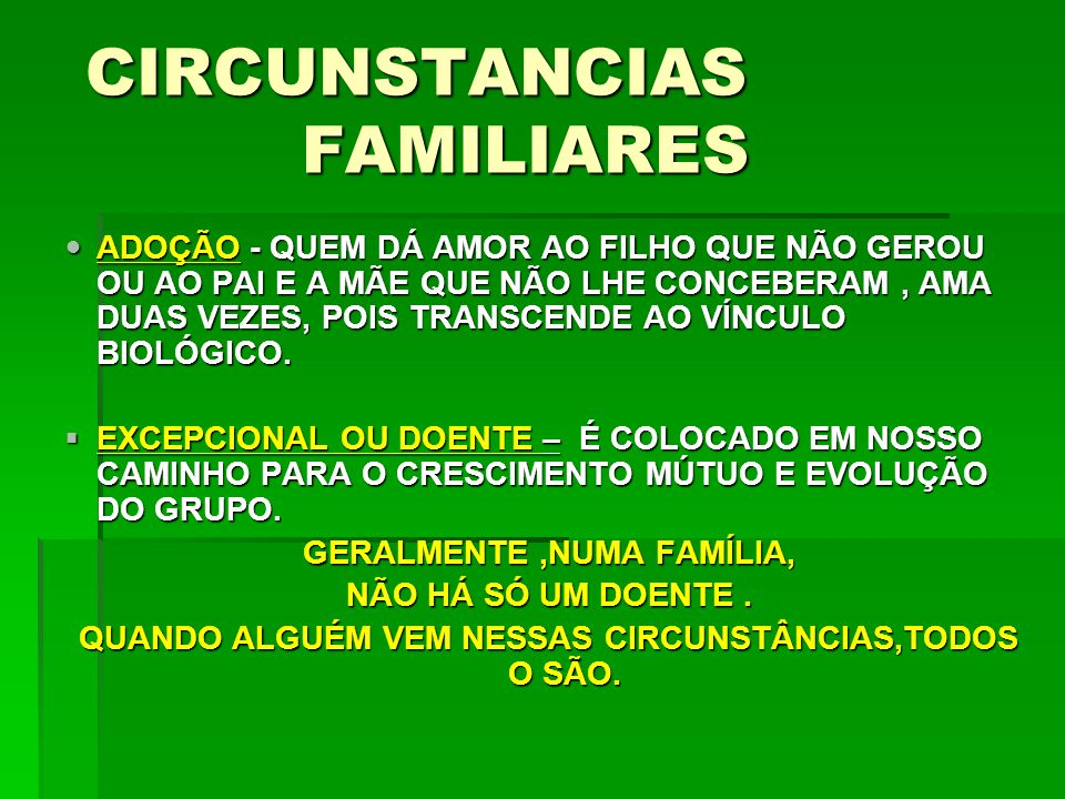 CIRCUNSTANCIAS FAMILIARES