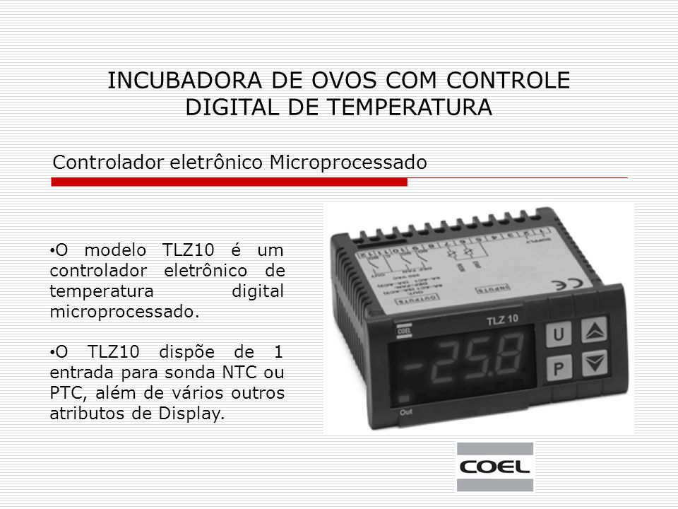 INCUBADORA DE OVOS COM CONTROLE DIGITAL DE TEMPERATURA
