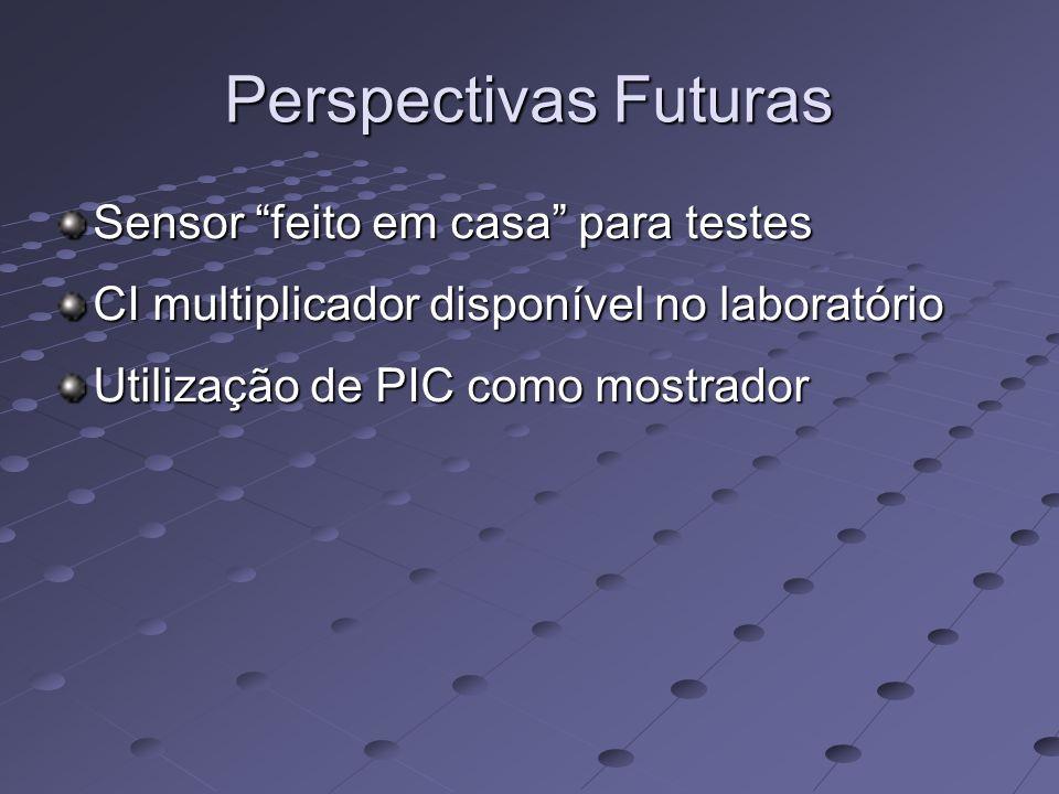 Perspectivas Futuras Sensor feito em casa para testes