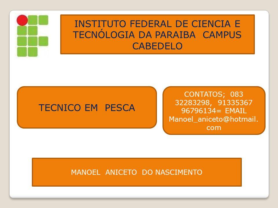 INSTITUTO FEDERAL DE CIENCIA E TECNÓLOGIA DA PARAIBA CAMPUS CABEDELO