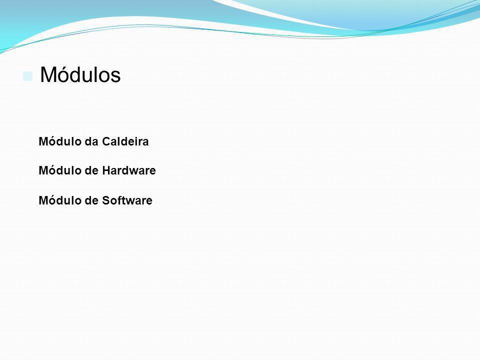 Módulos Módulo da Caldeira Módulo de Hardware Módulo de Software