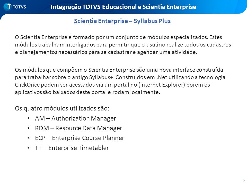 Integração TOTVS Educacional e Scientia Enterprise