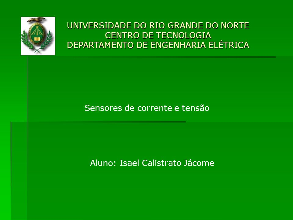 Sensores de corrente e tensão