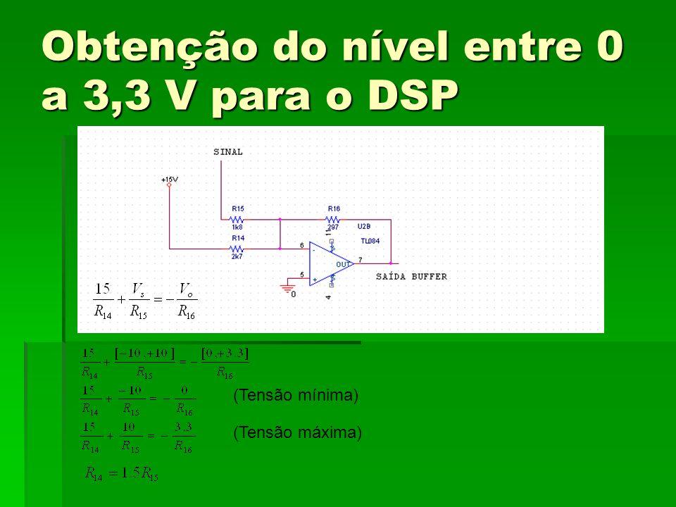 Obtenção do nível entre 0 a 3,3 V para o DSP