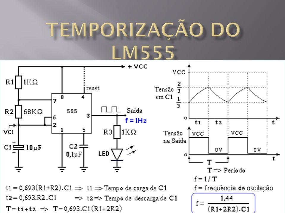 TEMPORIZAÇÃO DO LM555