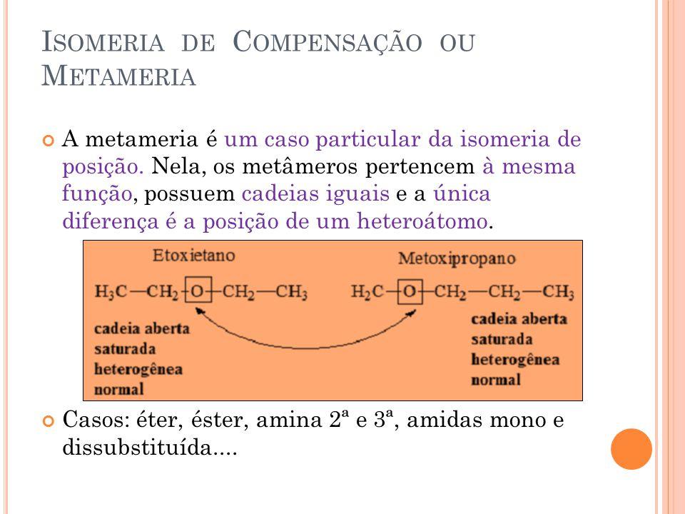 Isomeria de Compensação ou Metameria