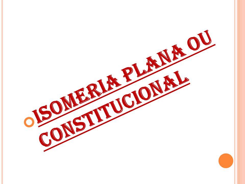 Isomeria plana ou constitucional