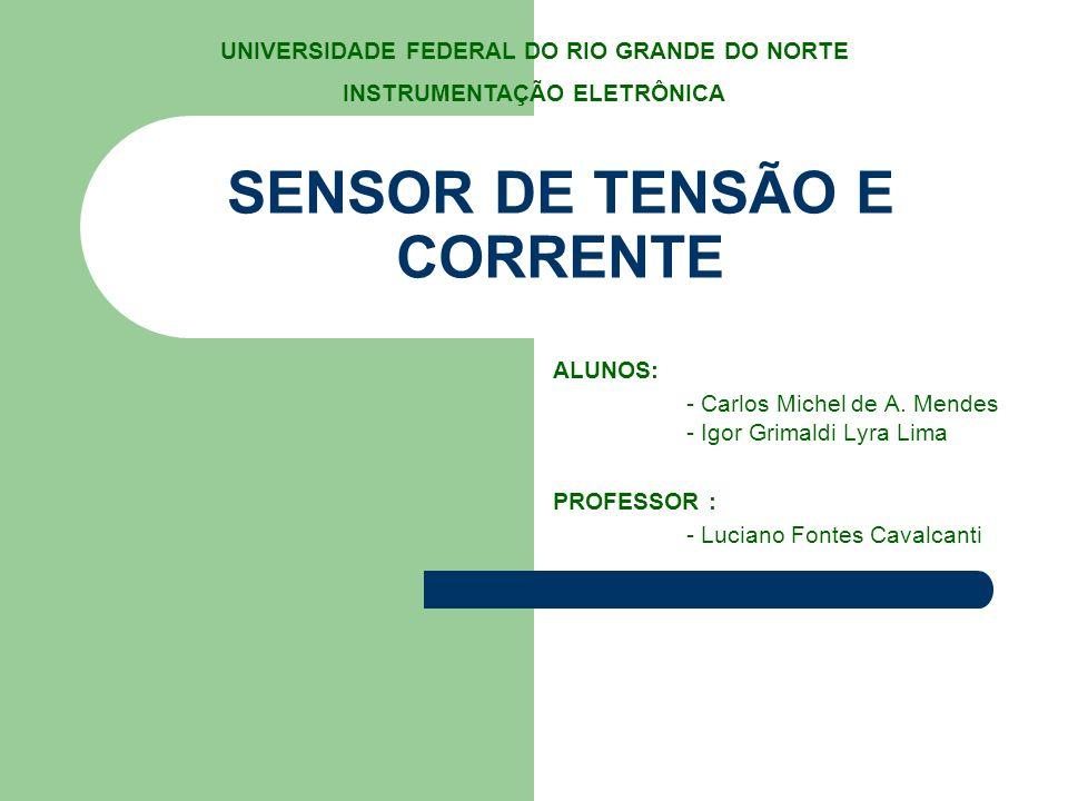 SENSOR DE TENSÃO E CORRENTE