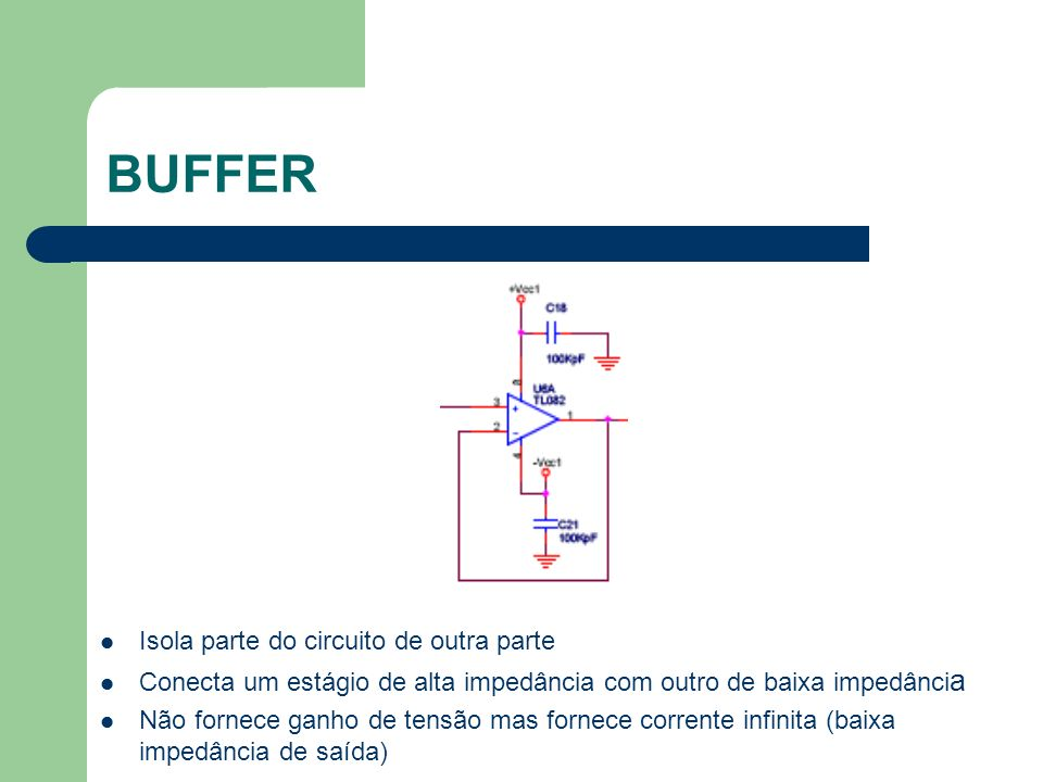 BUFFER Isola parte do circuito de outra parte