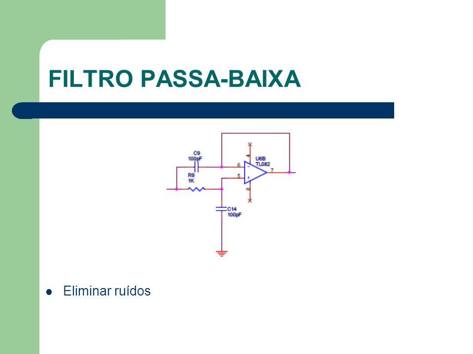 FILTRO PASSA-BAIXA Eliminar ruídos