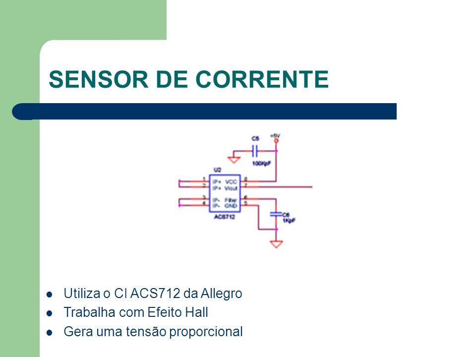 SENSOR DE CORRENTE Utiliza o CI ACS712 da Allegro