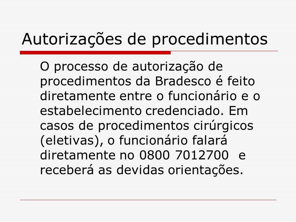 Autorizações de procedimentos