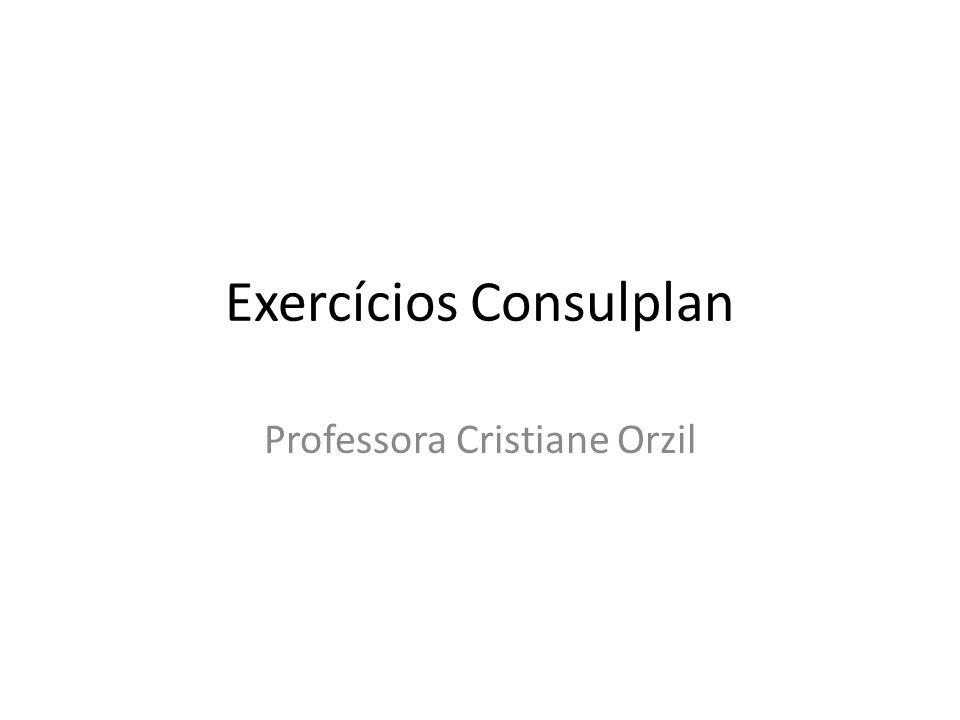 Exercícios Consulplan