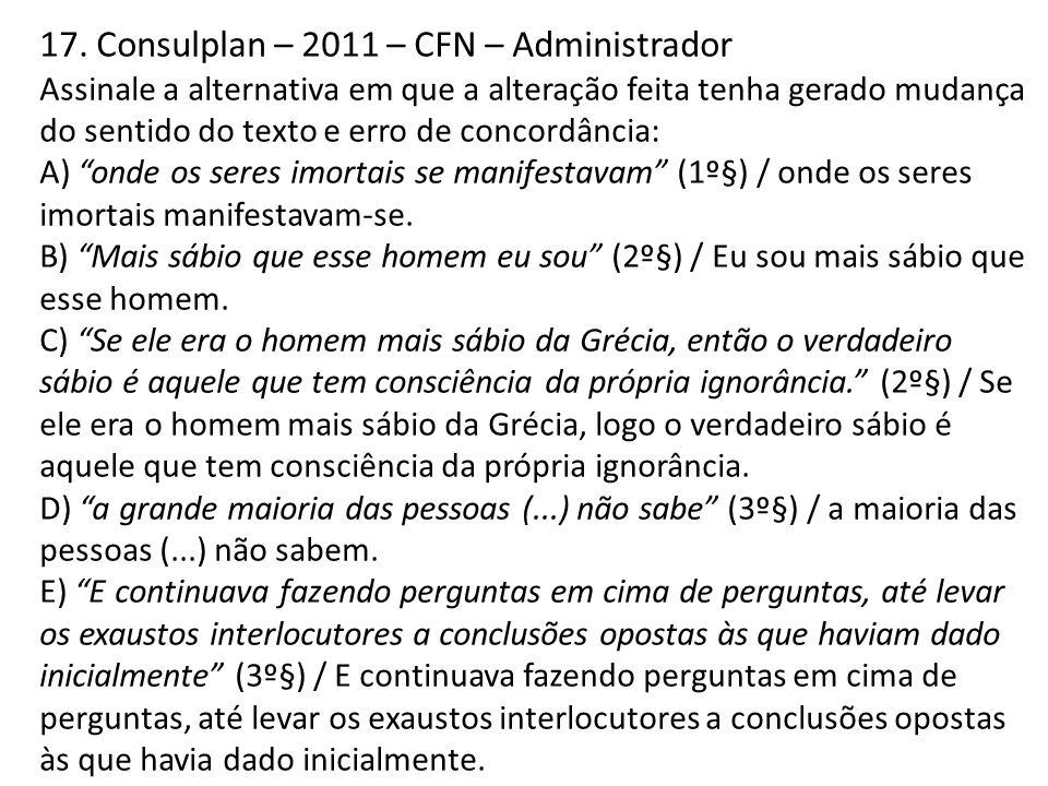 17. Consulplan – 2011 – CFN – Administrador