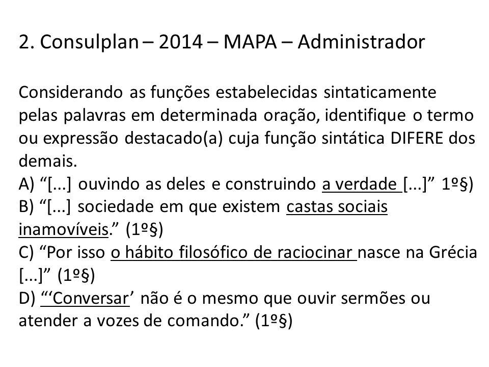 2. Consulplan – 2014 – MAPA – Administrador