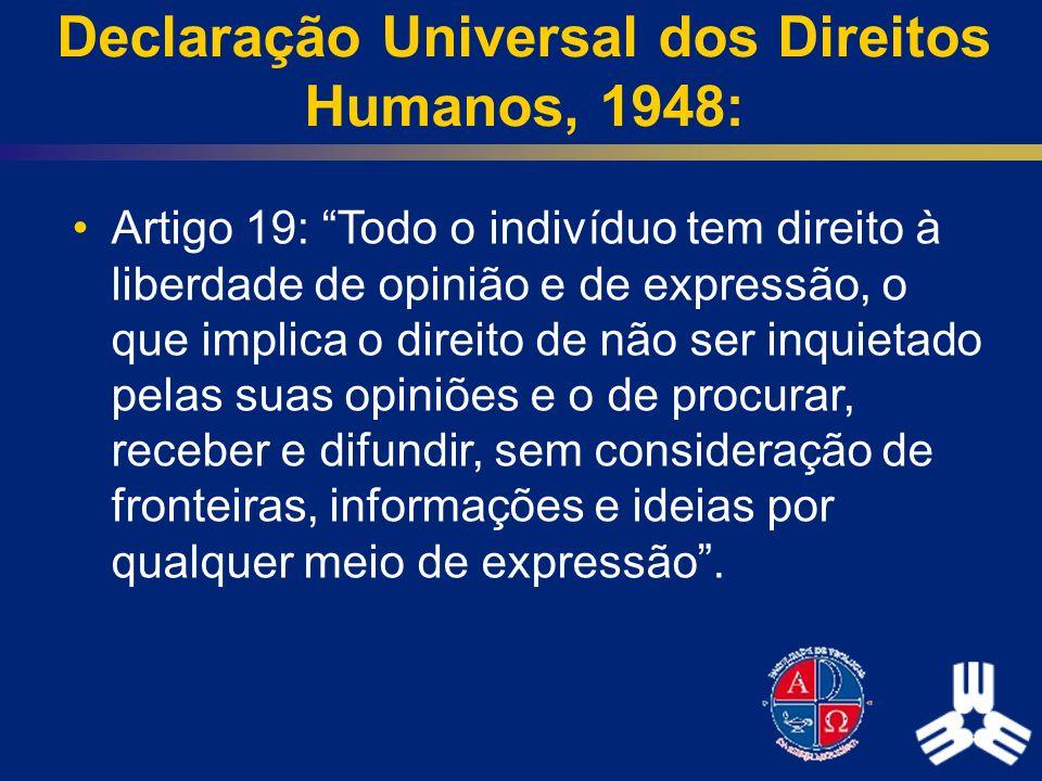 Declaração Universal dos Direitos Humanos, 1948: