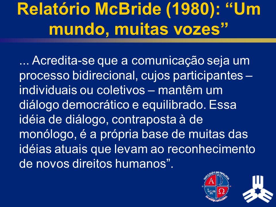 Relatório McBride (1980): Um mundo, muitas vozes