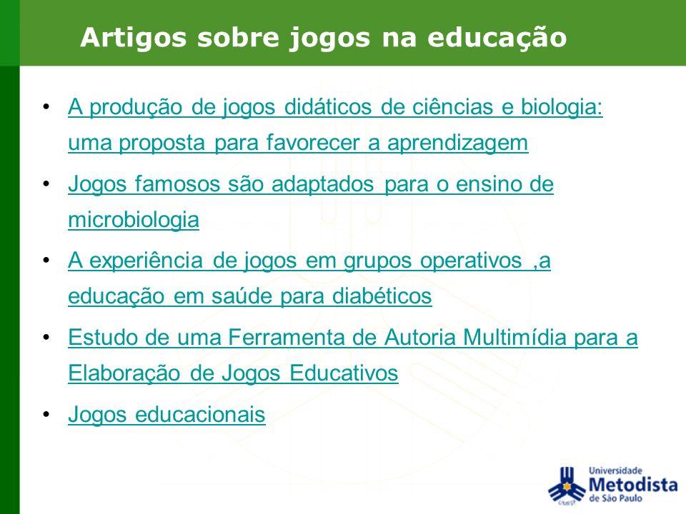 Artigos sobre jogos na educação