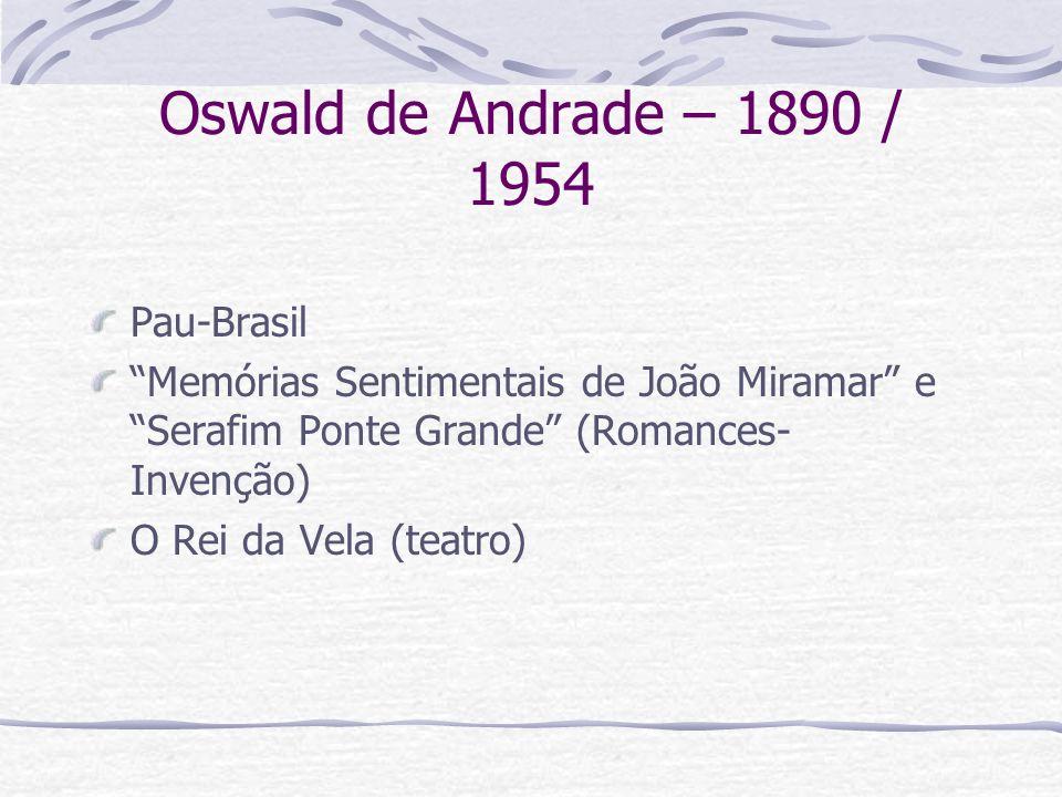 Oswald de Andrade – 1890 / 1954 Pau-Brasil