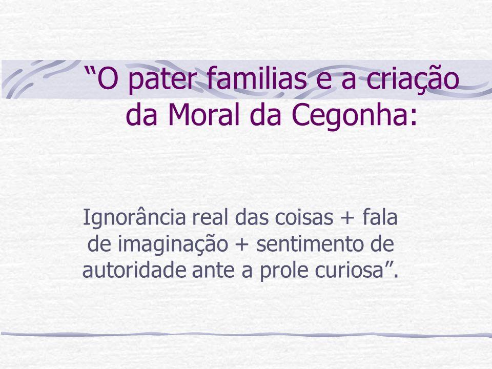 O pater familias e a criação da Moral da Cegonha: