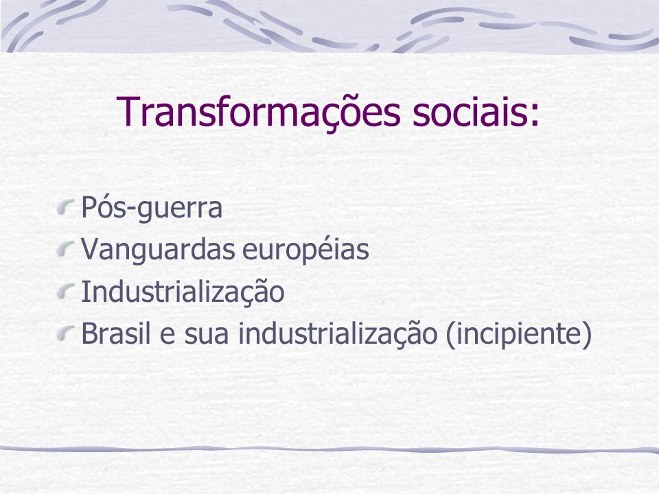 Transformações sociais: