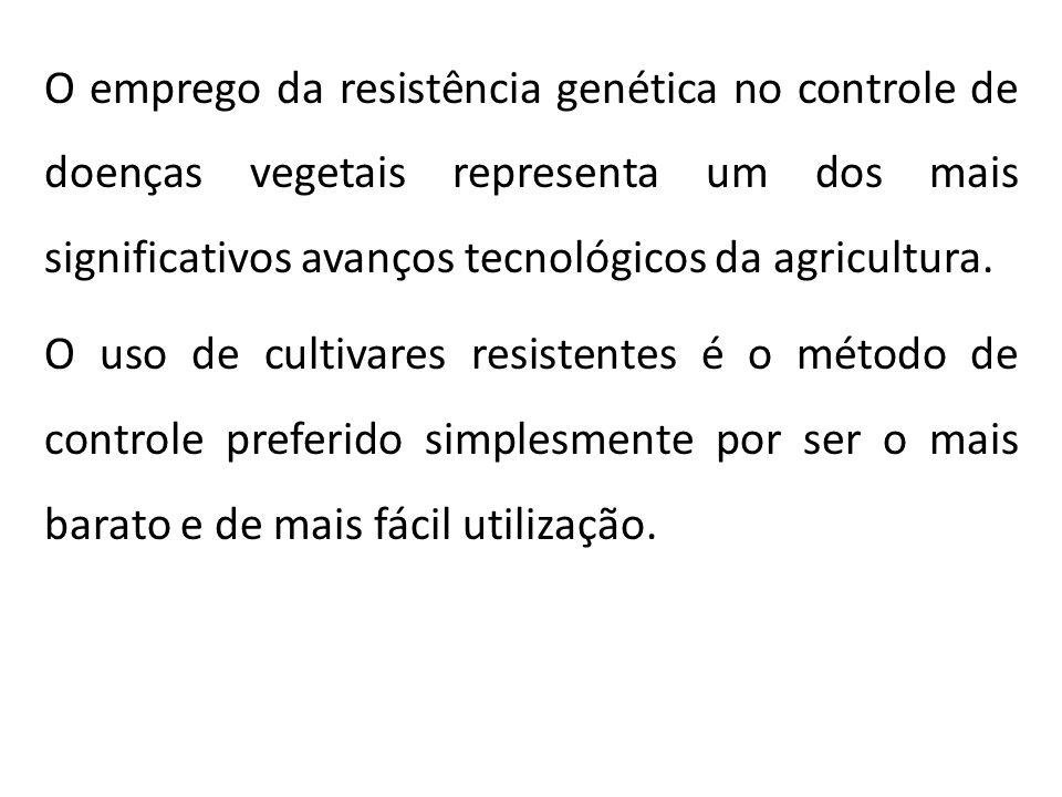O emprego da resistência genética no controle de doenças vegetais representa um dos mais significativos avanços tecnológicos da agricultura.